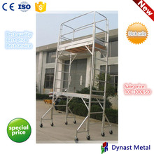 6 feet 12 feet 18 feet height light easy assembly muti-fuction plywood platform with guard rail aluminum mini mobile scaffold