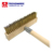 Commercial grade pizza stone oven cleaning tool long handle brass bristle copper Wire Brushes and scraper
