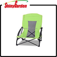 bimart outdoor steel folding / foldable beach chair with PVC coating oxford fabric