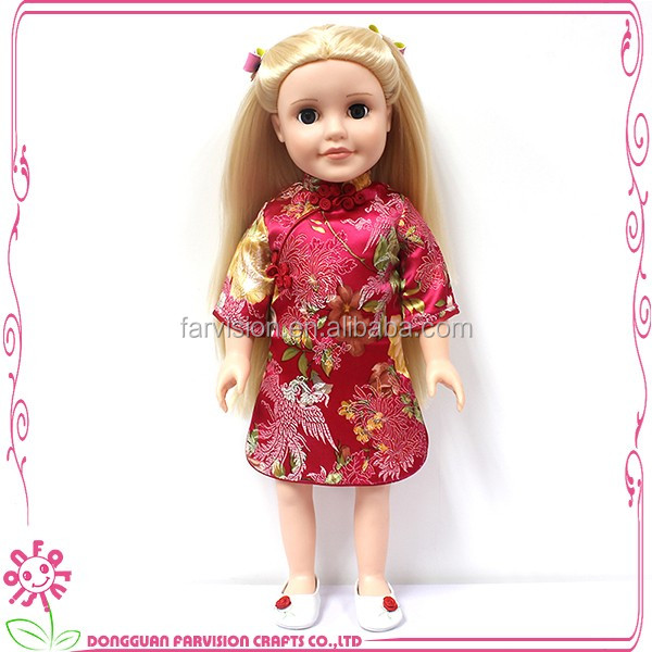 New style denim doll 12'' wholesale doll for kids gift toy