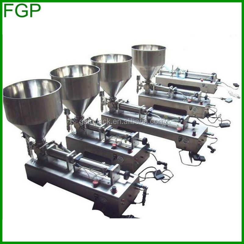 Guangdong factory supply mayonnaise making filling machine/piston filler for viscous liquids/cosmetic cream filling machine