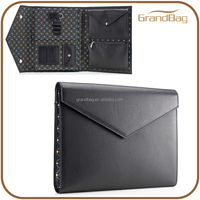 new design business travelling document bag document packing bag black executive genuine leather file folder laptop bag