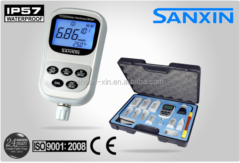 Portable water hardness meter