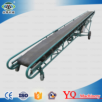 Movable mining mineral belt conveyor