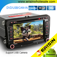 "Erisin ES3748V 7"" Auto Radio Android7.1 Car DVD GPS Navigation for VW Golf Tiguan Jetta Seat Eos Polo"