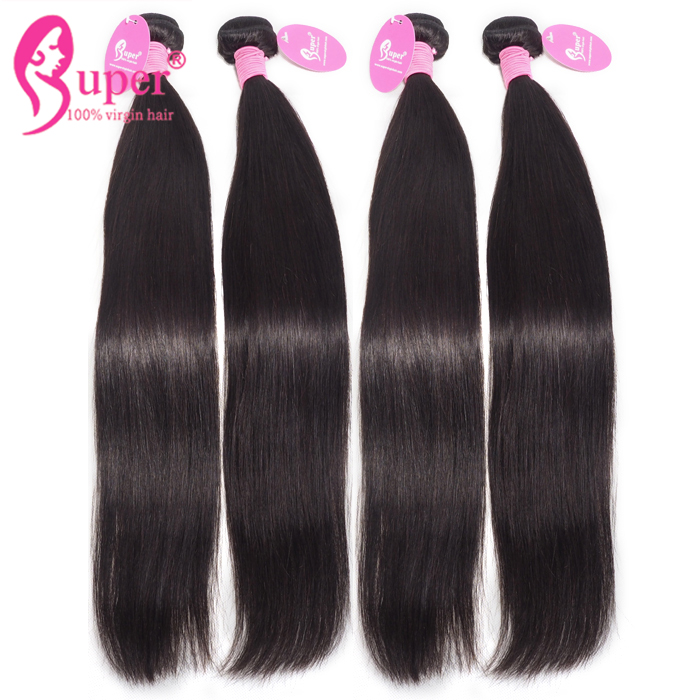 Wholesale Straight Virgin Brazilian Bundles With 13x4 Lace Frontal Closure Long Human Hair Extensions