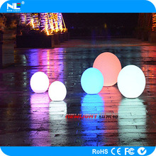 16 colors changing LED outdoor decoration ball light/waterproof swimming pool LED flat ball