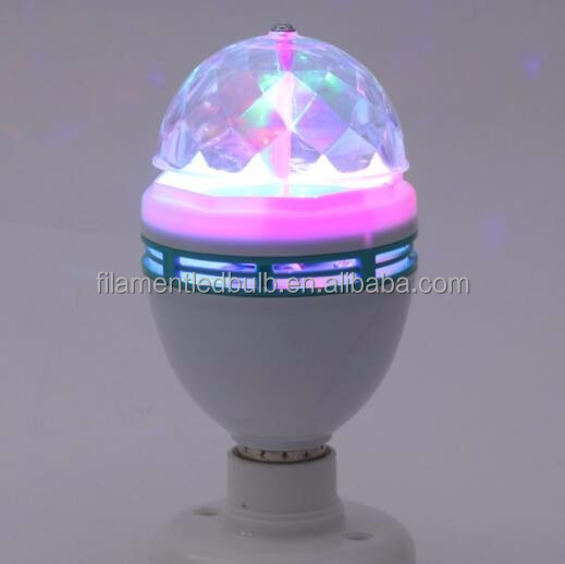 Hot Sale RGB Projection Stage Light LED E27 Colors Rotating party lamp