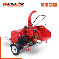 <Runsing Machinery Co., Ltd> factory export directly DWC series mobile diesel engine wood crusher chipper