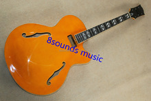 L5 archtop Electric Hollow body jazz electric guitars ebony fretboard flame maple binding 8 sounds music instruments