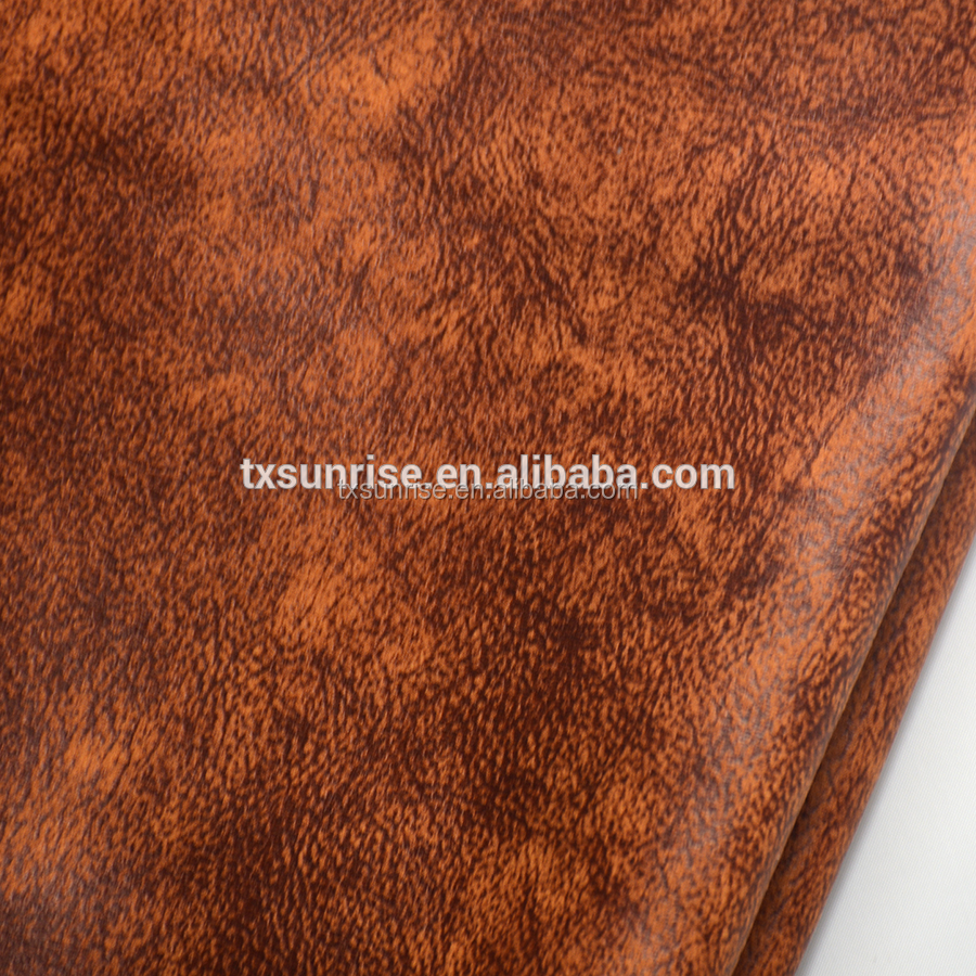 Zhejiang durable100% polyester bronzed suede fabric bonded with double-side velvet for sofa