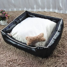 Luxury Comfortable Waterproof Fabric Leather Pet Dog Bed