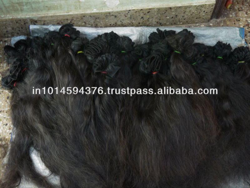 SPECIAL DESIGN FOR HAIR SALOON NO CHEMICALS PROCESS 100% VIRGIN PURE LONG HAIR WITH INDIAN HUMAN HAIR