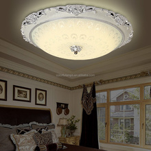 E27/LED Round Shaped Ceiling Lamps with Plastic/ABS Base and Glass Cover For Home / Hotel 9888