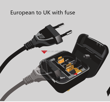 Top selling alibaba euro plug to uk bs5733 travel adapter