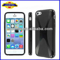 2013 New Size 100% confirmed tested with REAL Phone, X-Line TPU Gel Case for iPhone 5C, Wave Gel Case for iPhone 5C---Laudtec