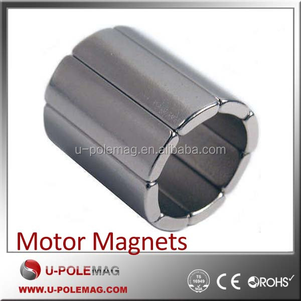 High Temperature Electric Brushless Motor Arc Segment Magnets Arc Magnets