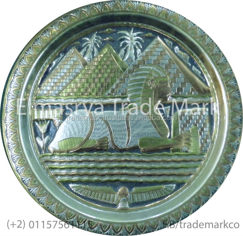 Pharaonic Pyramids Design Engraved Brass frame #T-108