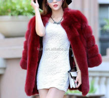 2013 winter brand name fake fur ladies coat