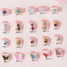 Good quality dolphin design nail art charms for DIY nail CWW657-660