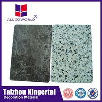 Alucoworld aluminum composite water resistant wall panels building construction materials sandstone color acp