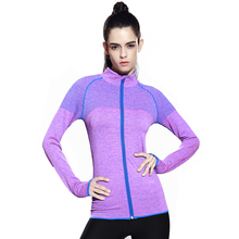 2018 Custom Women Student Girl Yoga Running Zipper Jacket Fitness Outdoor Sports Training Coat Long Sleeve Sweatshirts Jackets