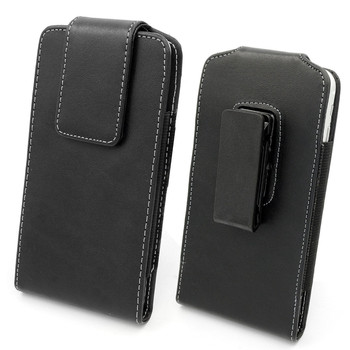 Leather Vertical Holster Belt Clip Pouch Carrying Sleeve Case for Samsung S8 Plus