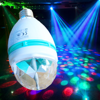 Export to Germany UK RGB colorful rotating room decoration 3W led party disco light