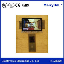 "Wall Mount 10"" 15"" 17"" 19"" 22"" Inch Elevator LCD Monitor USB Video Media Player For Advertising"
