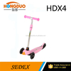 best new professional kids three wheel kick scooter / folding kick scooter with TPR handle