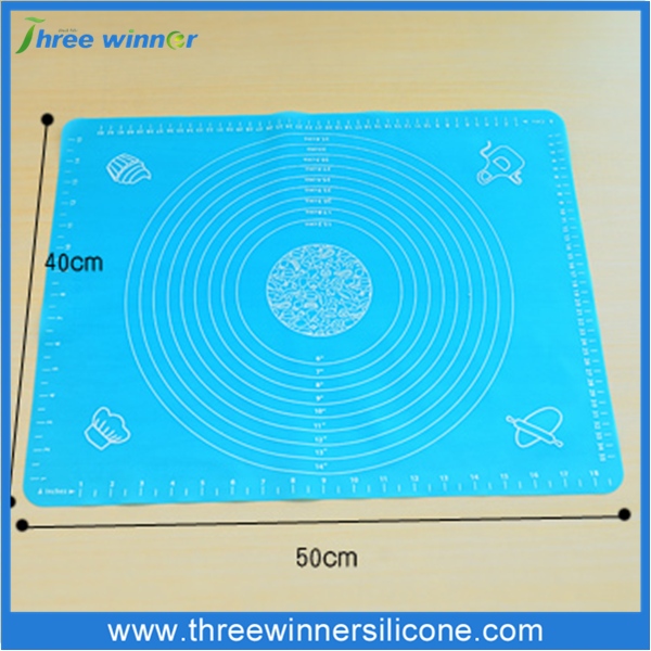 Silicone rolling mat with measurement baking mat