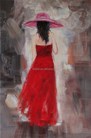 Handpainted Oil Painting Canvas Girl Back