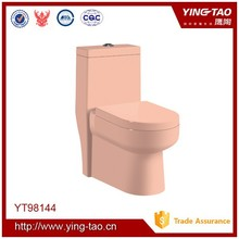 Beautiful one piece toilet wc bathroom pink ceramic toilet