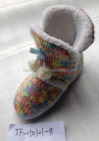 woolen floor indoor shoe indoor boots with cotton middle tube