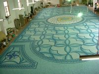 Glass mosaic tile, swimming pool art, plastic tiles swimming pool