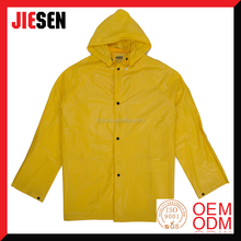 Cheap Waterproof 3 PCS 100% PVC Yellow Rain Suit