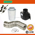"4"" One Speed Control Inline Centrifugal Fan - Carbon Filter - Ducting Hydroponics Growing Kits"