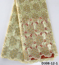 african cotton lace flower embroidery swiss lace fabrics with stone