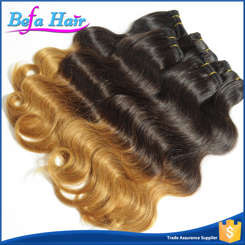 Befa Hair Noble Hot Selling 100% Human Hair 1B/27# Color Ombre Body Wave