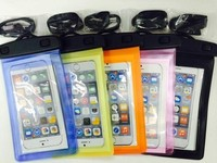 Professional Waterproof Smart Phone Dry Pouches PVC Bags Cases For Iphone 4 /5S For Samsung S2/S3