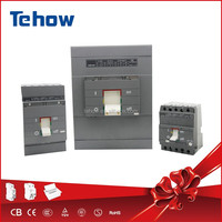Tehow mouded case circuit breaker themal magnetic release with direct rotary handle