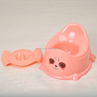 Cute plastic baby toilet seat baby potty seat with cover fashion comfortable safety training baby potty seat