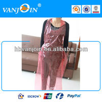 Pink Disposable Plastic Adult Aprons for Painting