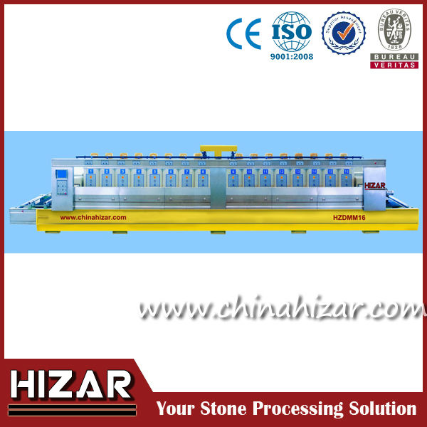 china supplier, stone, granite and marble polishing machine with 16 heads