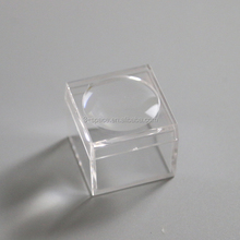 clear acrylic plastic magnifying box for small fossil display