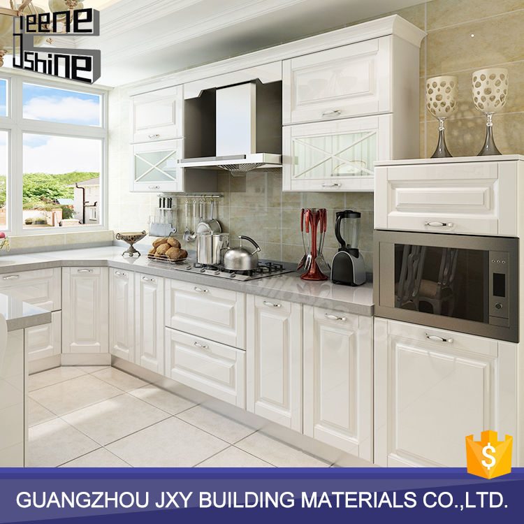 Customized white affordable modern modular design of kitchen hanging cabinets