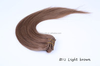 Soft&Shiny 20inch/50cm 100g/pack 8pcs/pack 15 colors human hair natural extension clip in on hair extensions smooth hair