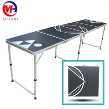 2017New Portable Folding Beer Pong Table Outdoor Alumium Folding Table