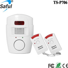 105db Home Security Wireless Pir Motion Sensor Alarm And Siren With 2 Remote Control