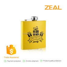 zeal 6oz stainless steel hip flask